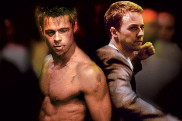 herci Brad Pitt a Edward Norton (Fight club)