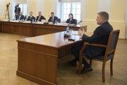 Robert Fico počas vypočutia Ústavnoprávnym výborom NR SR 23. januára 2019 v Bratislave.
