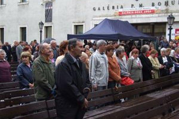 Oslavy sa dnes uskutočnili v centre Liptovského Mikuláša.
