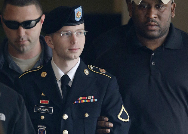 Bradley Manning počas procesu