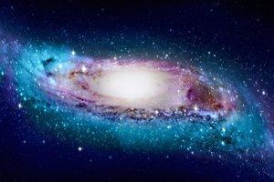 Umelecké stvárnenie pokriveného tvaru Mliečnej cesty.