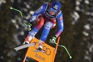 Slovenská lyžiarka Petra Vlhová na trati počas tréningu zjazdu na majstrovstvách sveta v alpskom lyžovaní vo švédskom Are 7. februára 2019.