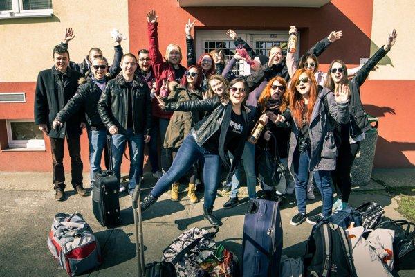 Výprava Rapešákov na každoročnú súťaž internátnych rozhlasových štúdií – Rádiorallye.