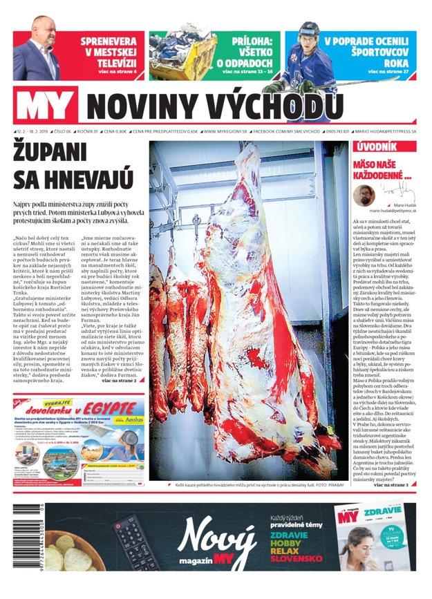 Titulná strana týždenníka MY Noviny východu č.6.