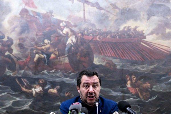 Taliansky minister vnútra Matteo Salvini.