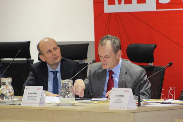 Peter Blaas (vľavo), vedľa neho Ivan Bošnák.