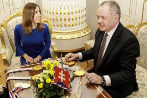 Sprava prezident SR Andrej Kiska počas prijatia víťazky ankety Paralympionik roka 2018 Henriety Farkašovej v Bratislave.