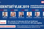 Prezidentský vlak 2019: unikátna diskusia s kandidátmi na hlavu štátu.