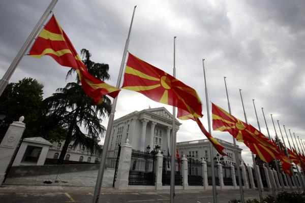 Vlajky Severného Macedónska.