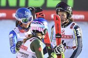 Tri najlepšie zo slalomu žien na MS v alpskom lyžovaní 2019.