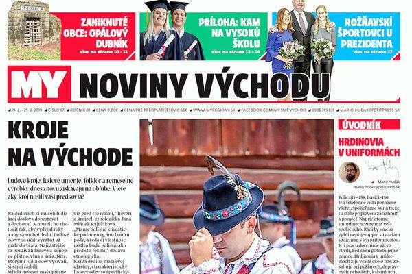 MY Noviny východu píšu o východniarskych krojoch aj hrdinoch v uniformách. (ZDROJ: MARIO HUDÁK)