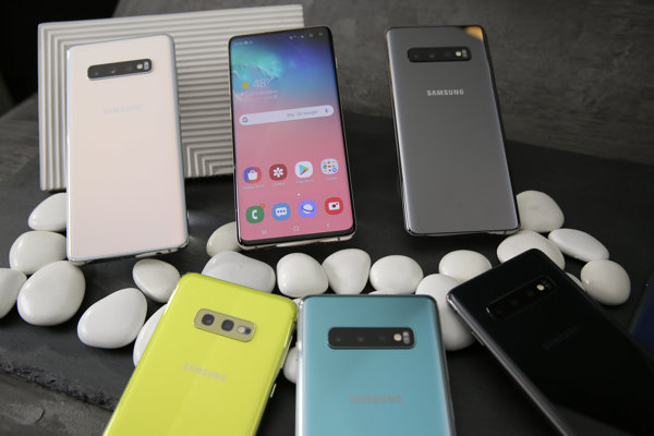 Na snímke predstavenie nového produktu Samsung Galaxy S10, 19. februára 2019 v San Franciscu.