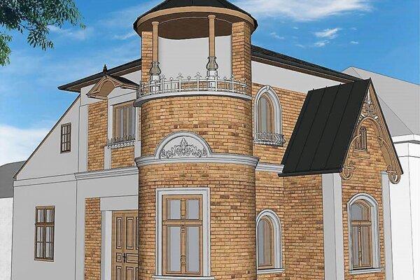 Vizualizácia. Takto by mala po rekonštrukcii vyzerať Petrivaldského vila v Hnúšti.