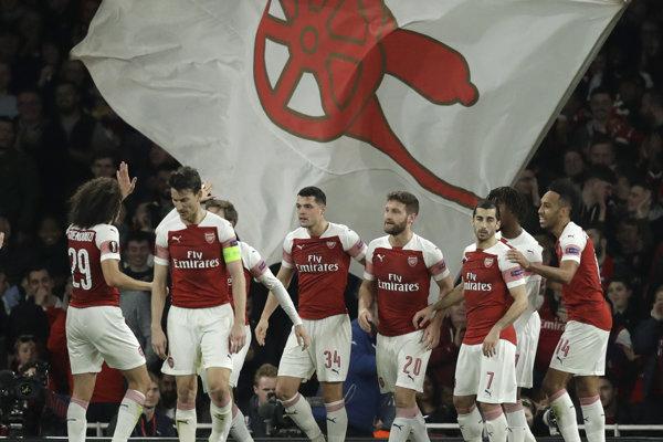 Futbalisti Arsenalu Londýn.