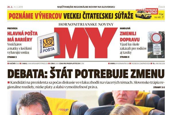 Nové číslo MY Hornotnitrianskych novín.