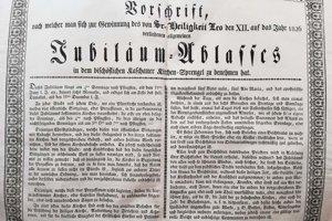 Predpis o získaní plnomocných odpustkov z roku 1826