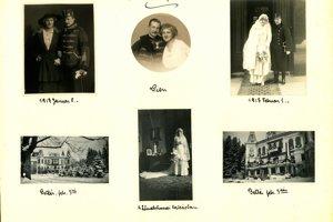 Svadobný deň - Emanuel II. Andrássy a Maria Choloniewski.