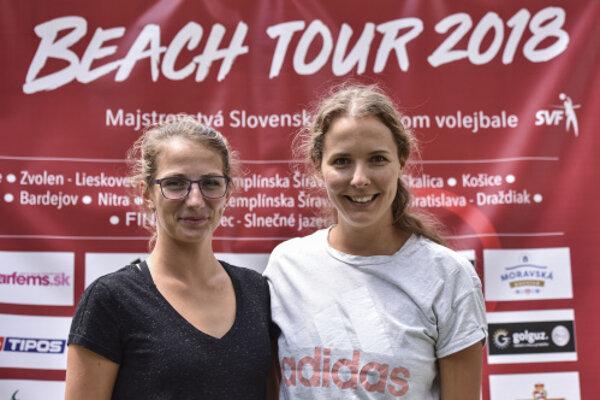 Zľava Andrea Štrbová a Natália Dubovcová.
