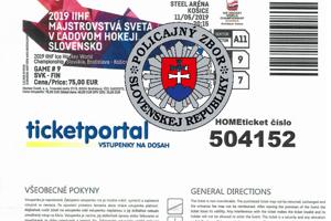 Internetový lístok.