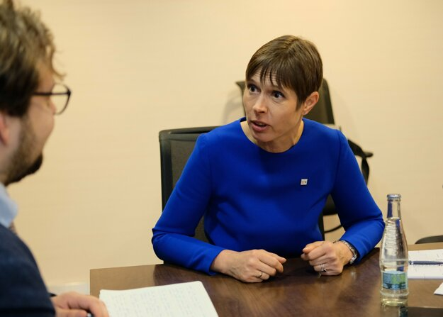Estónska prezidentka Kersti Kaljulaidová prišla do Košíc na summit Bukureštskej deviatky (B9).