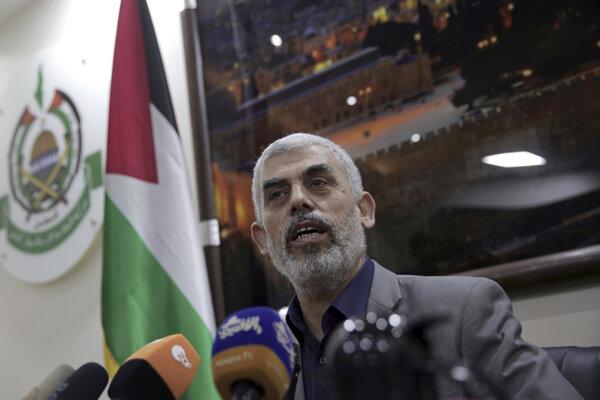 Vodca militantného palestínskeho hnutia Hamas vládnuceho v pásme Gazy Jahja Sinwár.