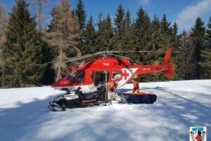 Vrtuľník na Skalke.