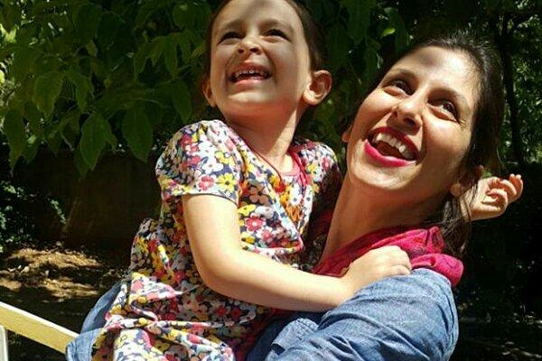 Nazanin Zaghariová-Ratcliffová s dcérou Gabrielle.