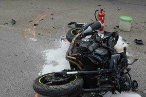 Krátko po nehode.