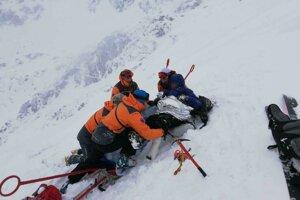 Zasahovalo sedem horských záchranárov.
