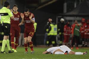 Momentka zo zápasu AS Rím - Empoli.