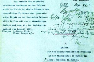 Vymenovací dekrét podpísaný Františkom Jozefom I. z januára 1911.
