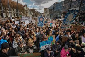 Protest Za budúcnosť klímy v Bratislave.