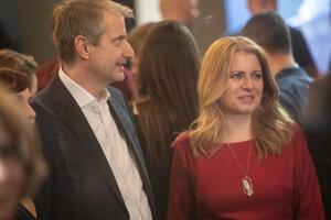 Robert Mistrík a Zuzana Čaputová.