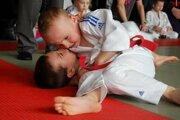 Najmladší prievidzský džudista Mirko Moniak vo váhe do 20 kilogramov obsadil 3. miesto.