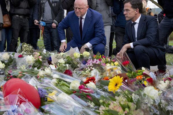 Holandský premiér na mieste tragédie.