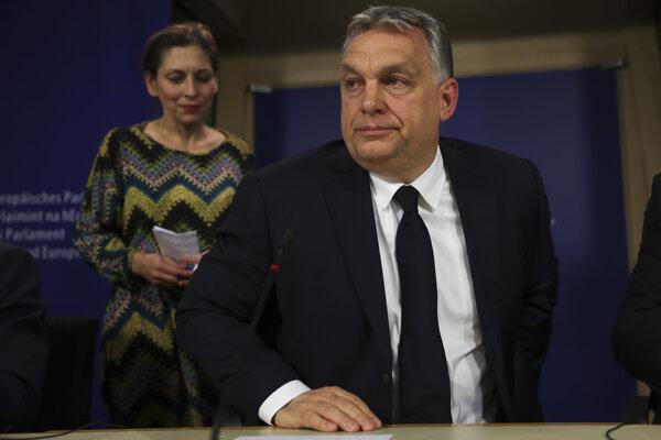 Maďarský premiér Viktor Orbán v Bruseli.