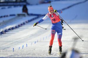 Anastasia Kuzminová prichádza do cieľa.