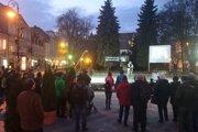Protest pri  Dolnej bráne