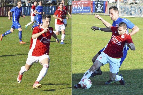O víťazstve Alekšiniec rozhodli góly Martina Hrebíka a Petra Daniša.