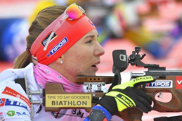 Slovenská biatlonistka Anastasia Kuzminová.