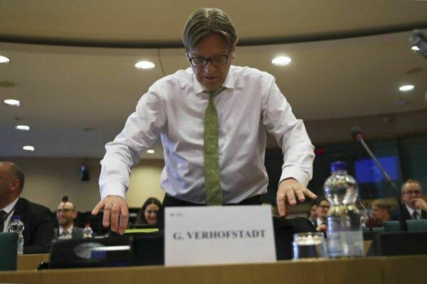 Hlavný predstaviteľ Európskeho parlamentu pre brexit Guy Verhofstadt.