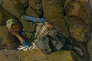 Zemiaky na Slovensku ukladali do pivníc, do zemiakových jám, v chudobných rodinách ich mali dokonca v jame pod posteľou. S obľubou ich zobrazovali aj naši umelci. Ladislav Čemický, Pri zemiakoch, 1935–1936.