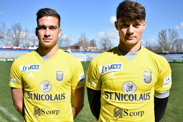 Nové tváre v MFK Zemplín - Til Mavretič (vľavo) a Alejandro Mitrano.