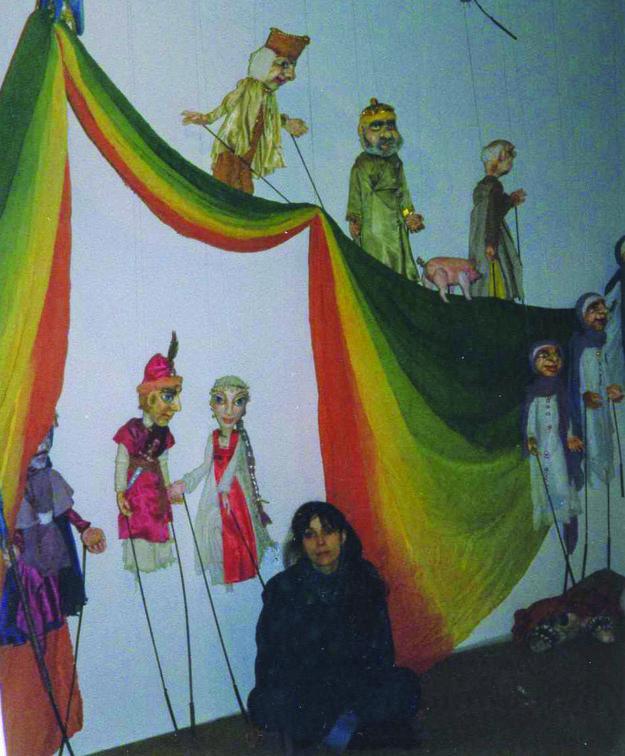 Výtvarníčka vystavovala v múzeu bábok v Chrudimi.