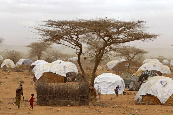 Utečenecký tábor Dadaab.