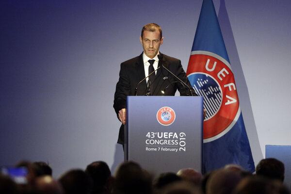 Prezident UEFA Alexander Čeferin.