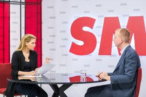 Zuzana Kovačič Hanzelová hostí v štúdiu SME Miroslava Beblavého.