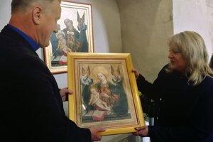 Kópia obrazu Madona s anjelmi.