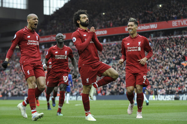 Hráči Liverpool FC na ilustračnej fotografii.