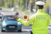 Policajná kontrola alkoholu.